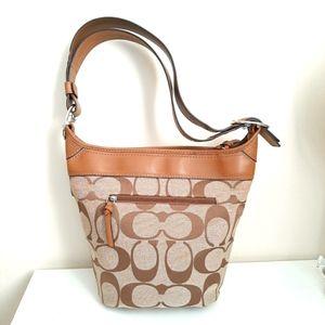 Coach F13358 Brown Signature Bucket bag